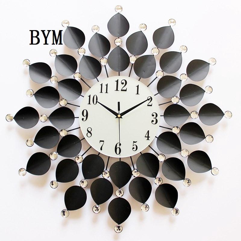 Art Wall Clock Clock Watch Wall Clock Living Room Creative Fashion Modern Large Wall Watch Silent Qu Shopee Indonesia