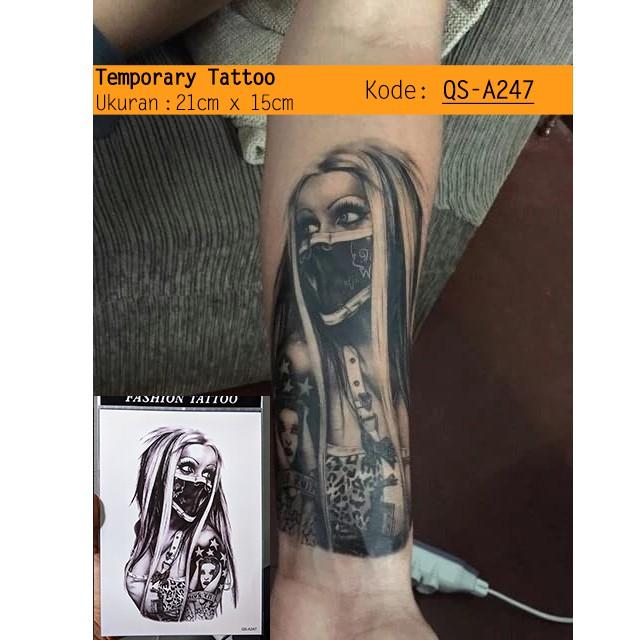Art Arm Temporary Tattoo 3d Premium Motif Mix Mawar Jangkar Tulisan Untuk Tangan Kaki Dada Kt D183 Shopee Indonesia