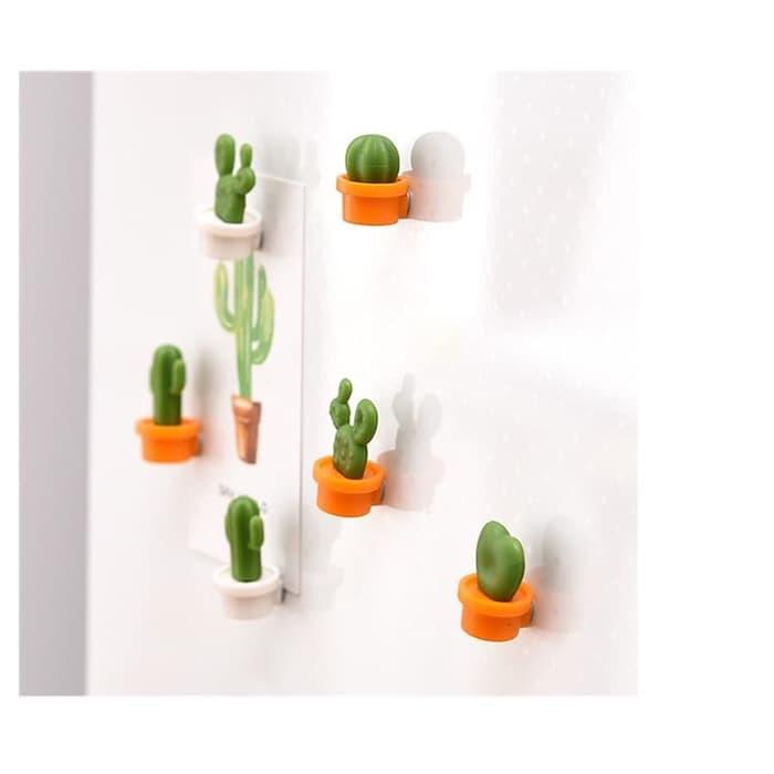 Prom00 Magnet Kulkas Desain Kartun Kaktus Mini Untuk Dekorasi Kulkas Set Isi6