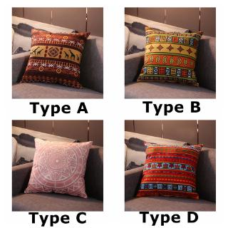 sarung bantal sofa bahan kain lembut gaya bohemian untuk