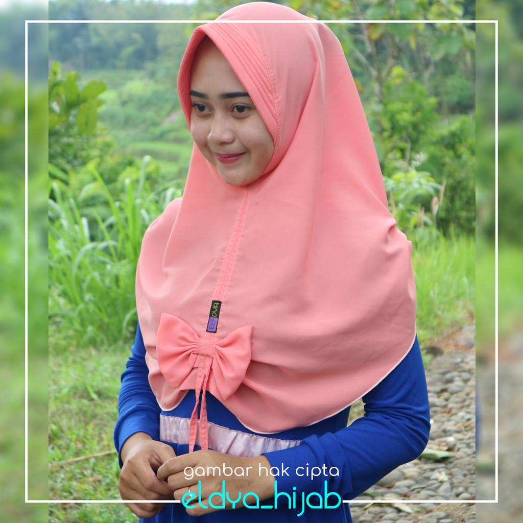 Khimar Pet Tali Original Eldya Jilbab Instan Semarnag Jumboo Shopee Indonesia