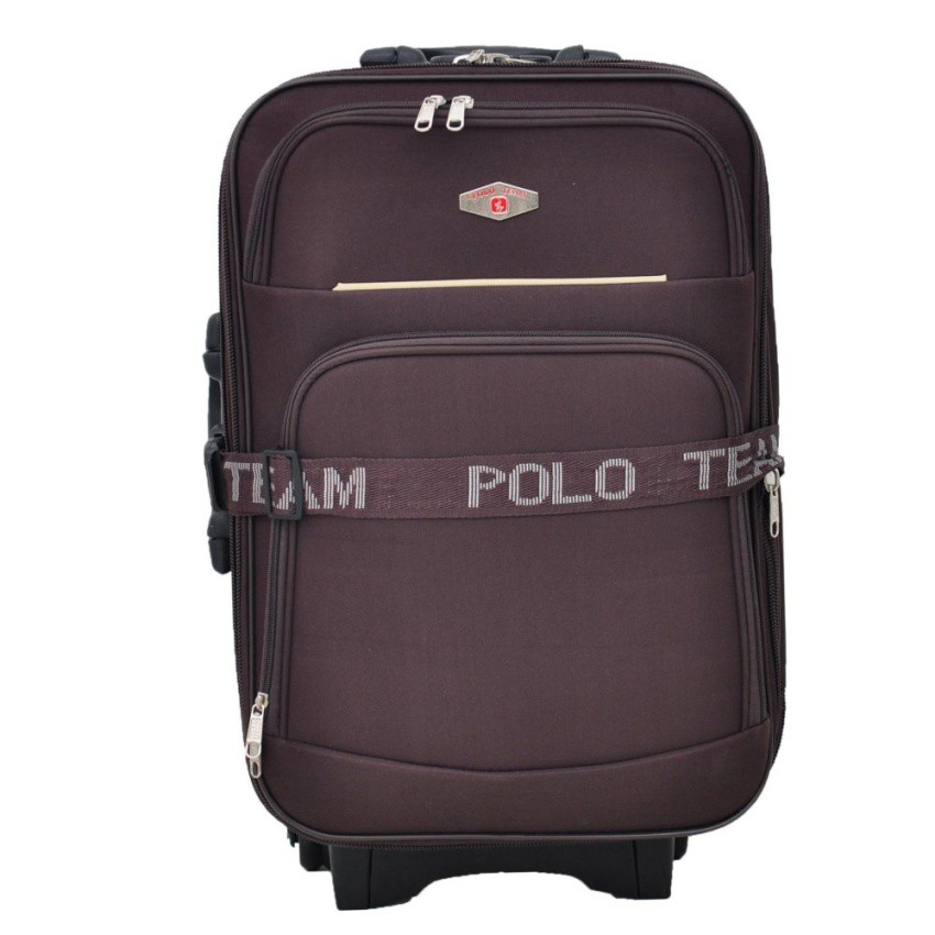 Polo Team 931 Koper Kabin Size 20 inch Gratis Pengiriman JABODETABEK - Cokelat | Shopee Indonesia