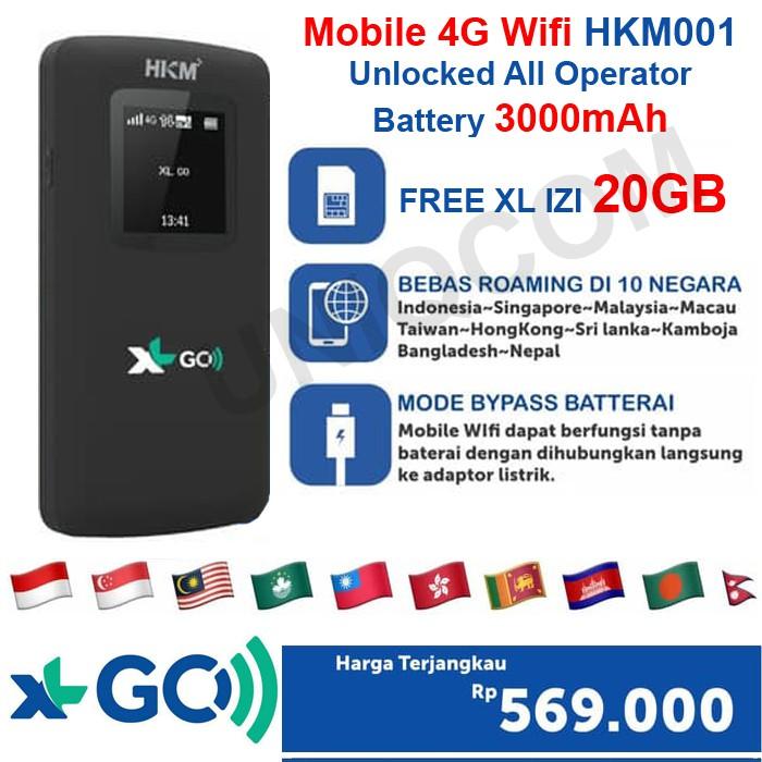 MIFI XL GO IZI 4G LTE HKM001 UNLOCKED FREE XL GO IZI 20GB | Shopee ...