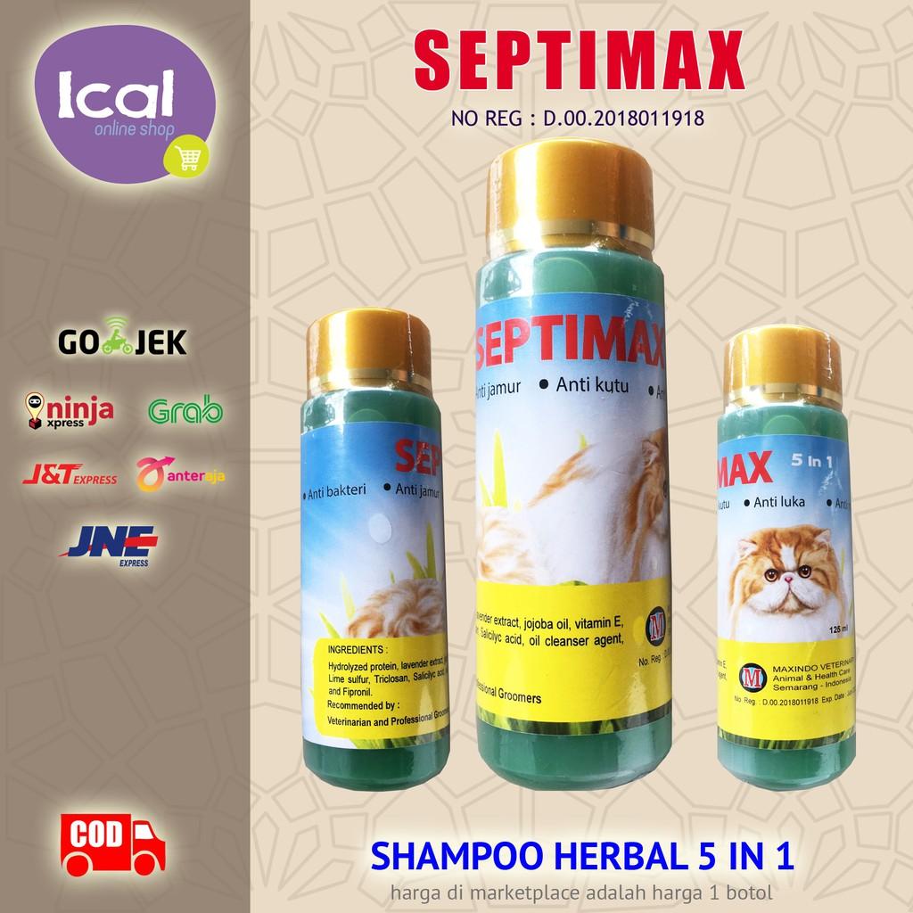 Sampo Kucing Septimax Shampoo Herbal 5 In 1 Anti Kutu Anti Lepek-4