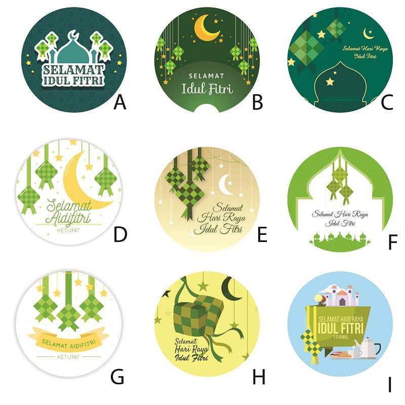 Sticker Stiker Ucapan Selamat Hari Raya Idul Fitri Bahan Sticker