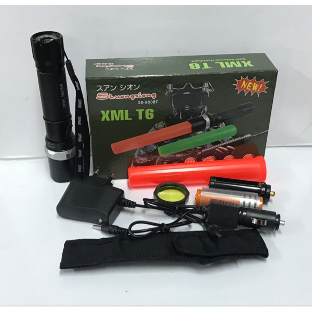Diskon Senter Swat Police 8802 99000w Led Cree 99000 W Watt 2 Zoom Swatt Bai Chuan Original Battery Ultrafire 18650 Rechargeable Shopee Indonesia