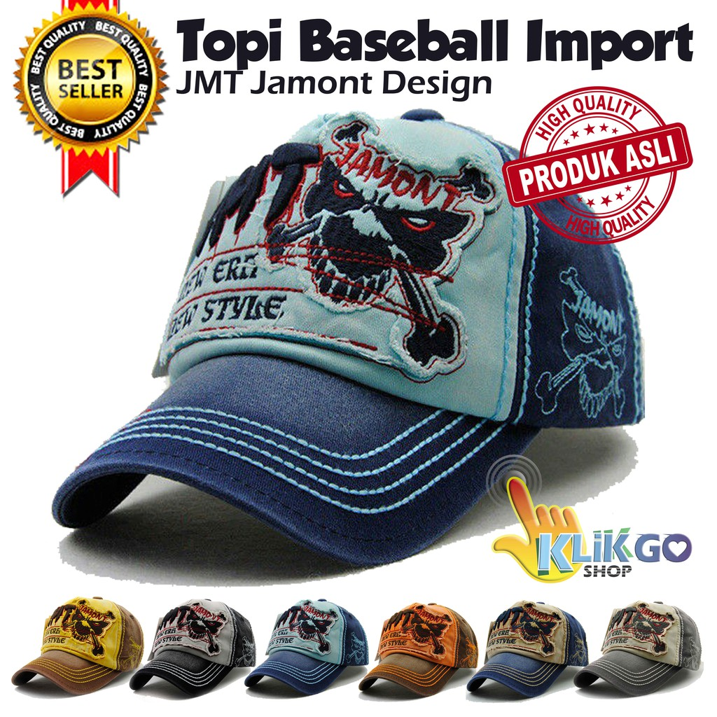 TOPI BASEBALL IMPORT JAMONT DESIGN  SNAPBACK CAPS   TOPI DISTRO TRUCKER  d379b2be50