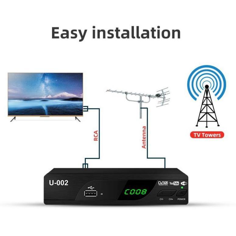 [ART. 953690] EZ-BOX SET TOP BOX DVB-T2 PENERIMA SIARAN TELEVISI DIGITAL YOUTUBE WIFI