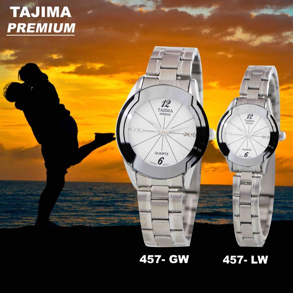 Promo 12 Jam Tangan Pria Wanita Tajima Platinum 3815 Date Analog Watch 3813 Garansi 1 Tahun Ampamp Original Chrono Variasi Shopee Indonesia