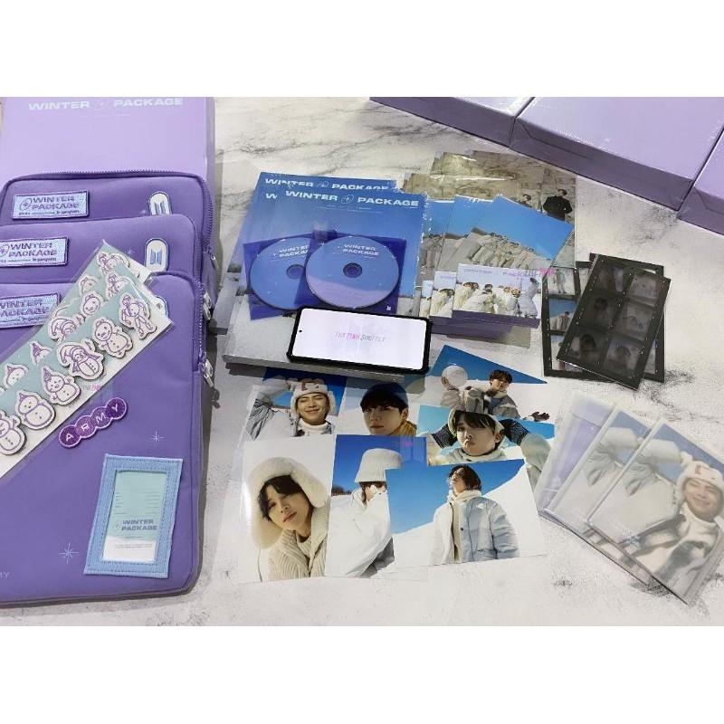 [Sharing] BTS Winter Package 2021 Pouch Photobook DVD 4x6 PC 6 Cut Film Photo