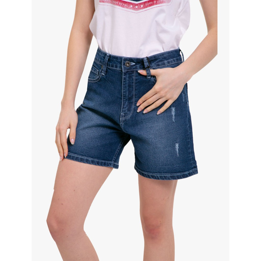 Pepe Jeans High Waist Shorts Denim Jeans Kara Shopee Indonesia