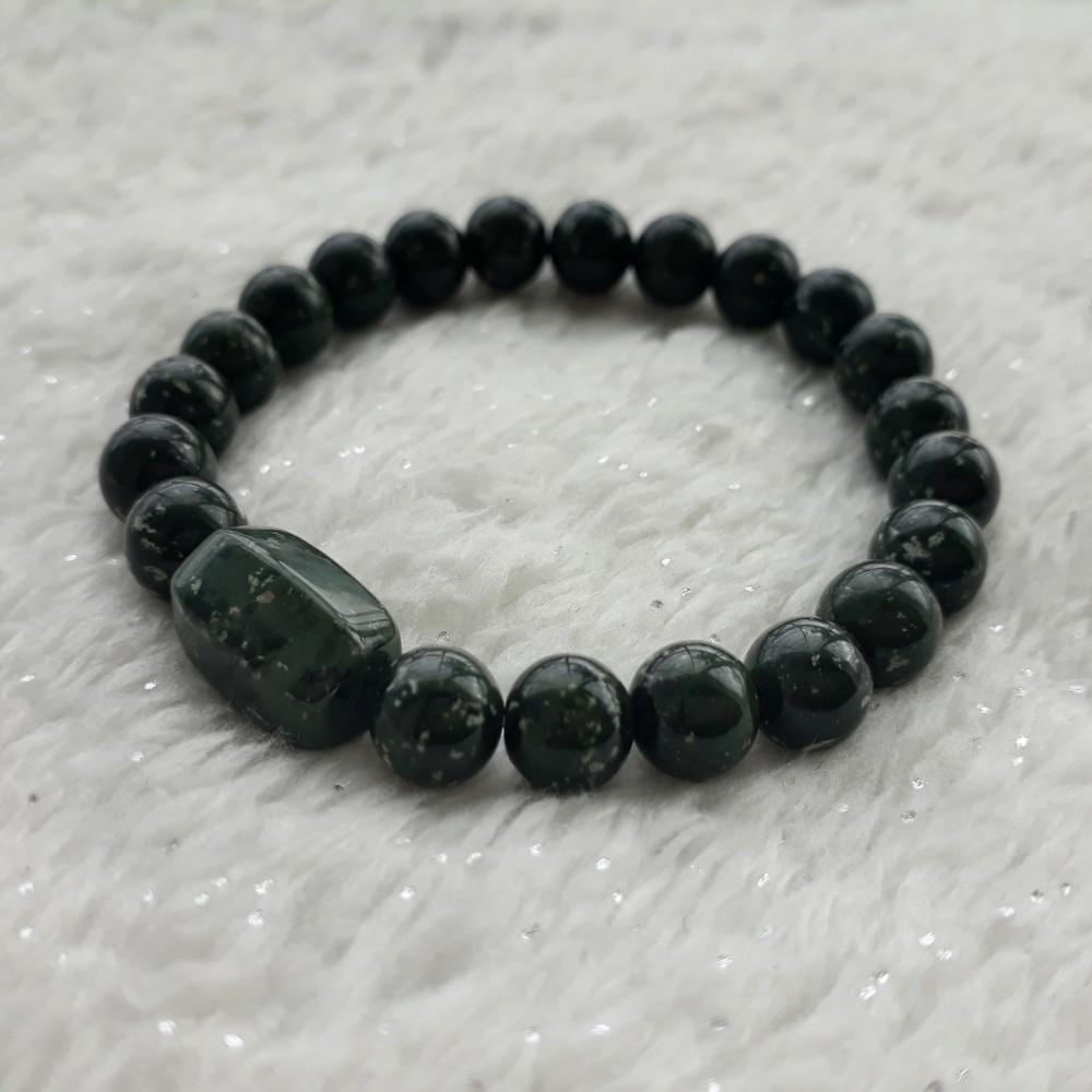 "A-KHA Paket Kalung dan Gelang Black Jade 8mm ""100% Batu Alam"" | Shopee Indonesia"