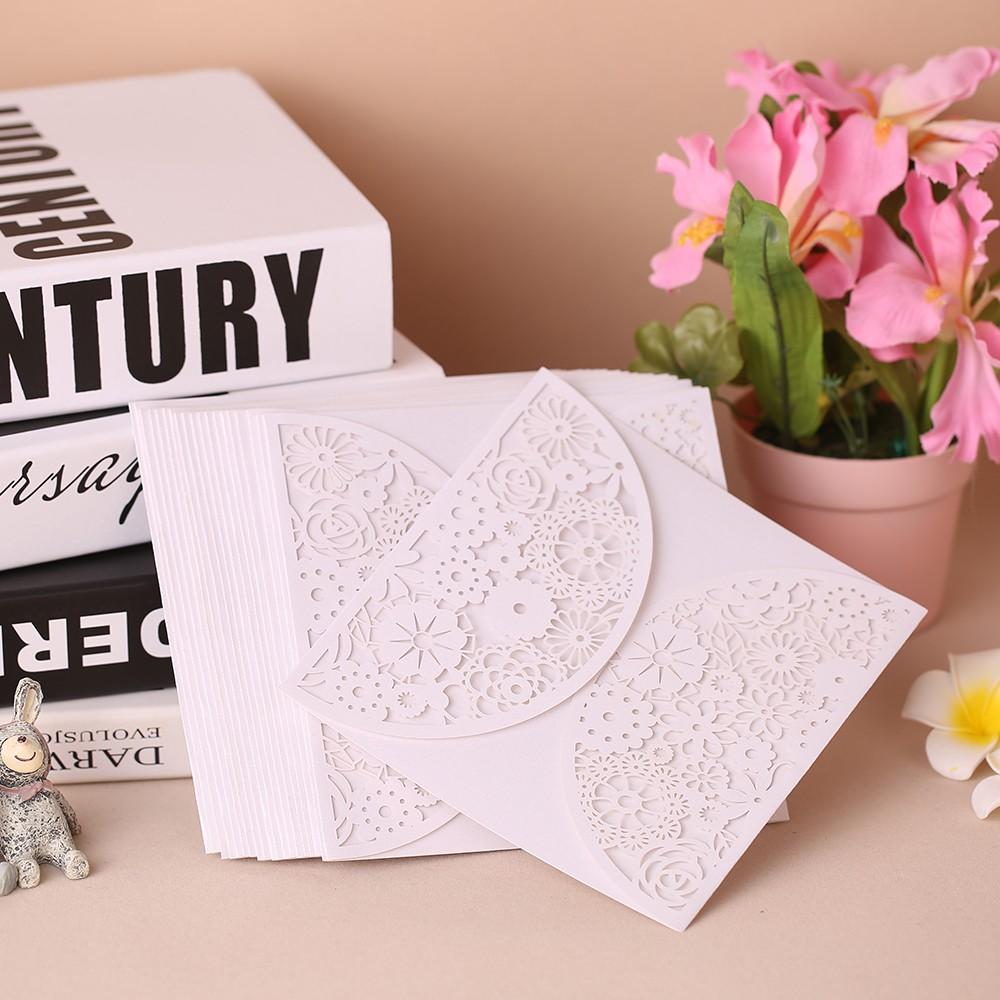 Kartu Undangan Pesta Elegant Ukiran Bunga Romantis Invitation Cards untuk Pesta Ulang Tahun dan Pernikahan |