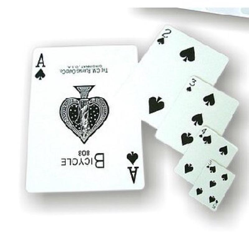 808 Kartu Poker Ukuran Besar Untuk Properti Sulap Shopee Indonesia