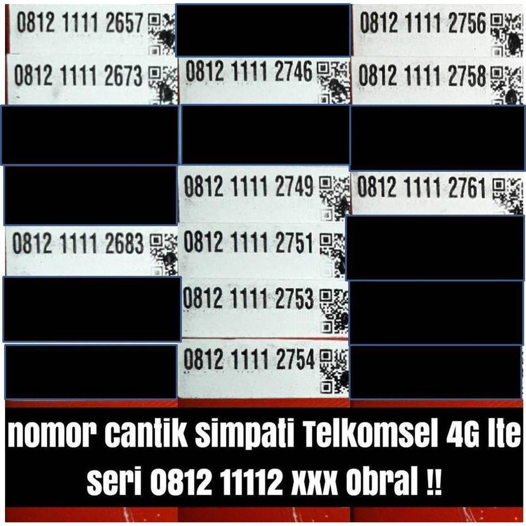 nomer cantik pilihan kartu perdana simpati 11 digit telkomsel 4G lte Shopee Indonesia .