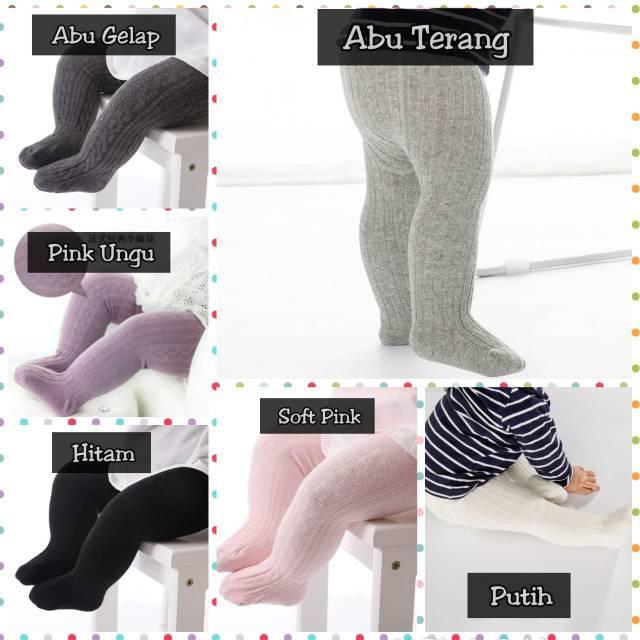 Celana Legging Polos Tertutup Legging Newborn Perempuan Laki Laki Legging Bayi Tutup Kaki Tebal Shopee Indonesia