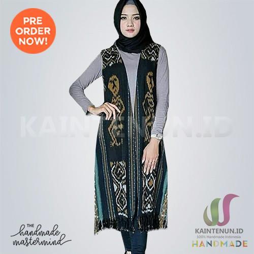 Long Vest Outer Rompi Tenun Troso Handmade Blaz024 Shopee Indonesia