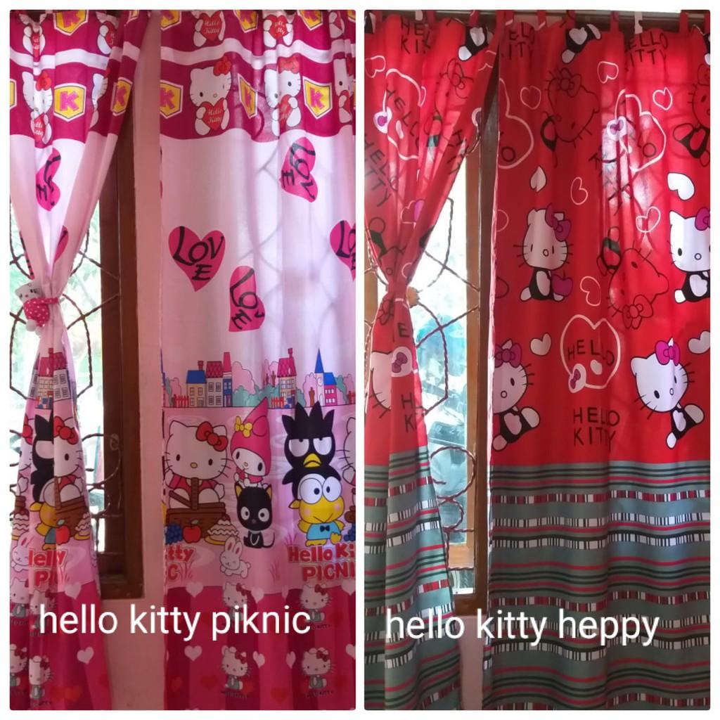 Hordeng Gorden Horden Gordeng Homemade Pintu Karaktergorden Karakter Hello Kitty