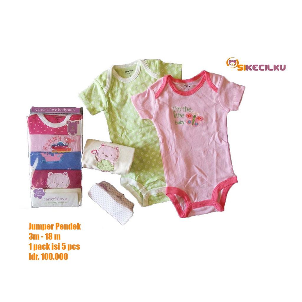 Carter Love Jumper baby girl - jumper pendek bayi carter 5 in 1 | Shopee Indonesia