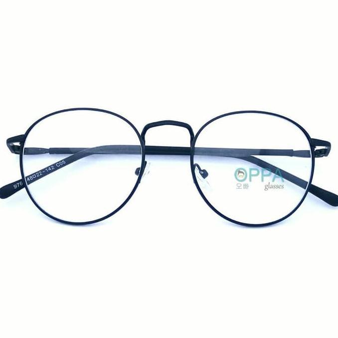SPECIAL!! Frame Kacamata Korea Pria Wanita OPPA OP02 FBL Hitam Bulat ... 76aeb6667b