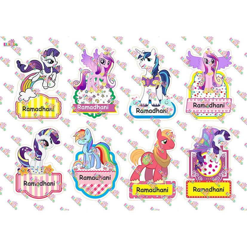 Label Nama Little Pony 32 Stiker Anti Air Robek Luntur 2 Nama Lp6xl2 Shopee Indonesia