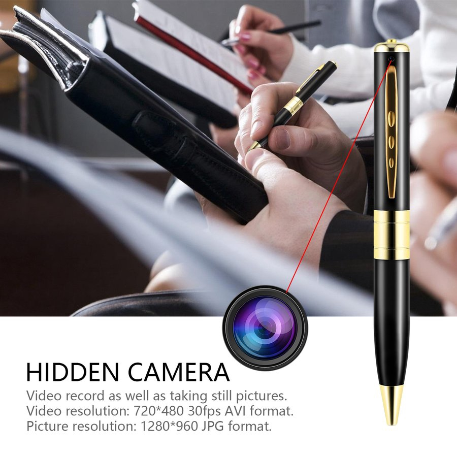 [Bayar Di Tempat]&E&Portable Mini HD 720P Multifunctional Hidden Spy Pen Camera DVR Video Recorder