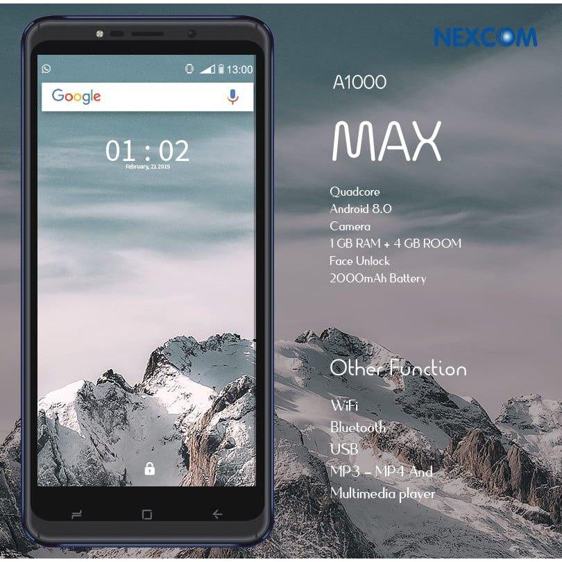 NEXCOM A1000 MAX RAM 1GB ROM 4GB LAYAR 5.7 INCH