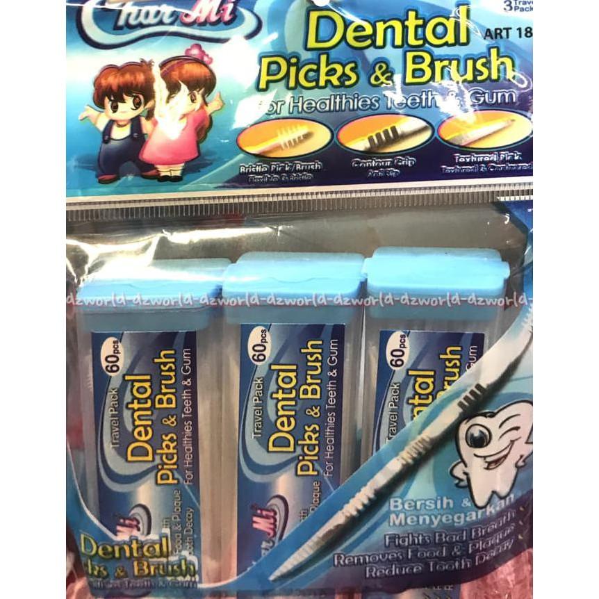 Termurah Dental Picks   Brush Char Mi Art 186 Tusuk Gigi Plastik Sikat Sela   d89a7e9457