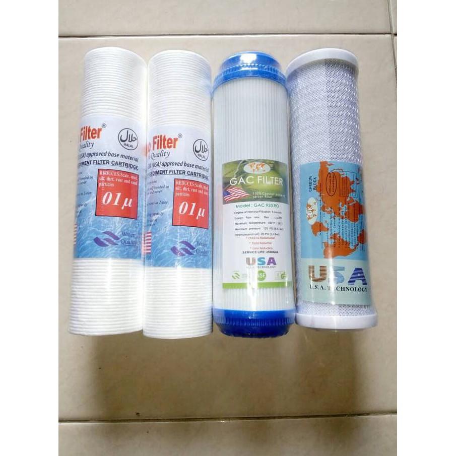Paket Lengkap Ganti Ulang Filter Reverse Osmosis RO 50 GPD atau 100 GPD | Shopee Indonesia