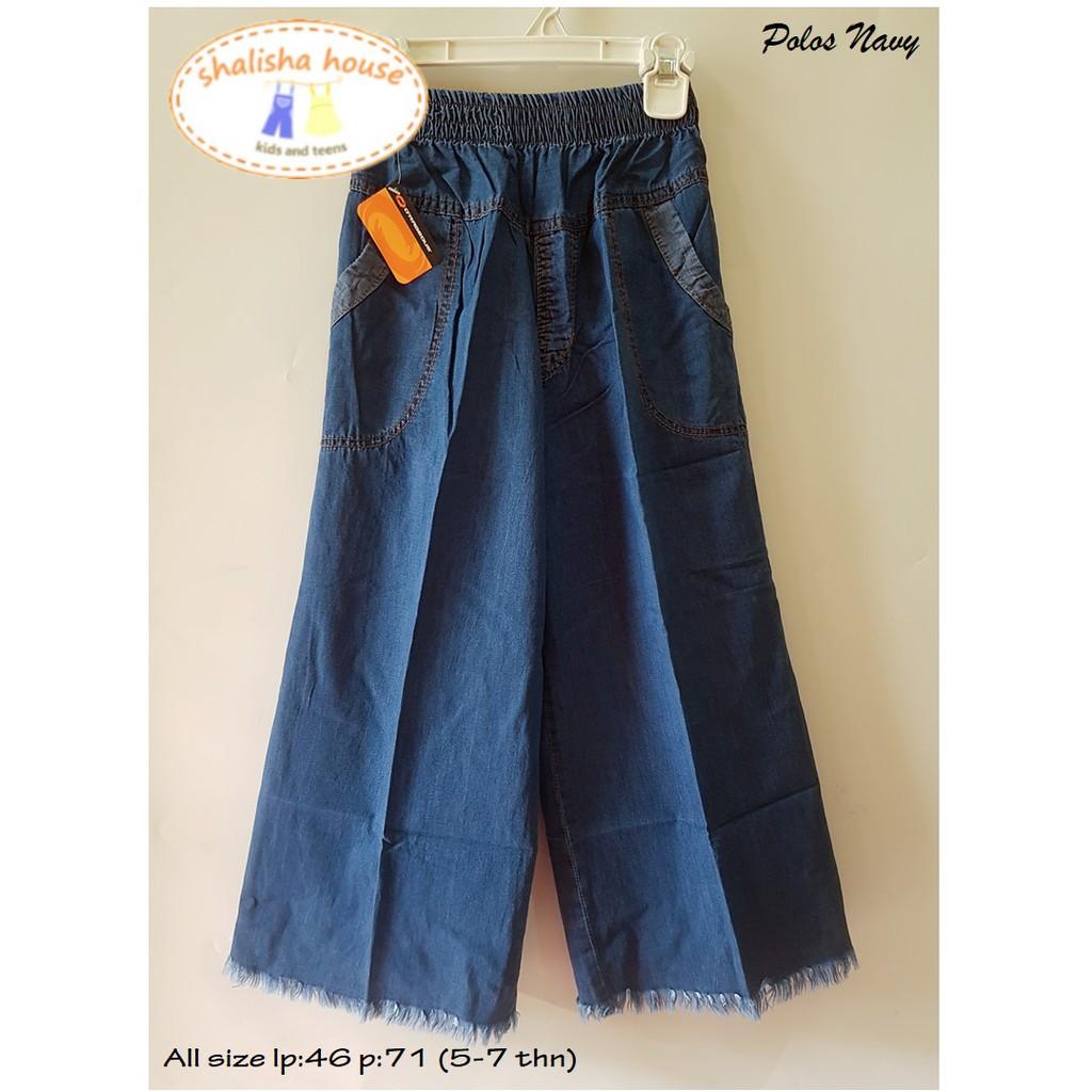 Celana Kulot Bahan Jeans Anak 6 7 8 9 10 11 12 Jogger Size 9t Joger Oshkosh Katun Strech Tahun Shopee Indonesia