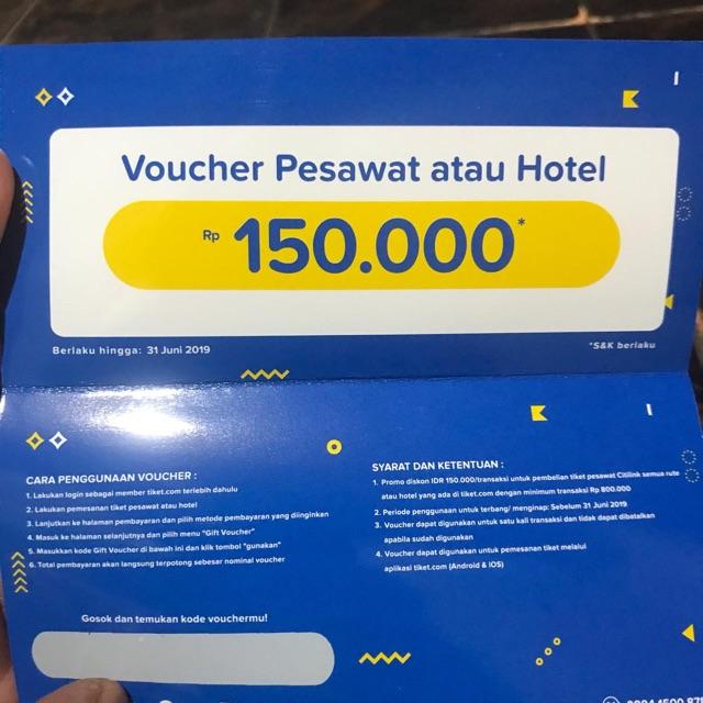 Voucher Tiket Com Shopee Indonesia
