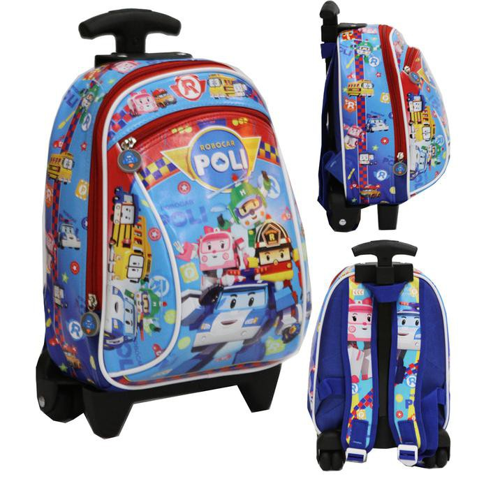 PALING MURAH Tas Anak Thomas Ransel TK & PG Bahan Kain Sponge Anti Air - Biru | Shopee Indonesia