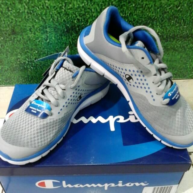 4514de6e55381 Sepatu Champion Original Running Gusto Grey Memory Foam