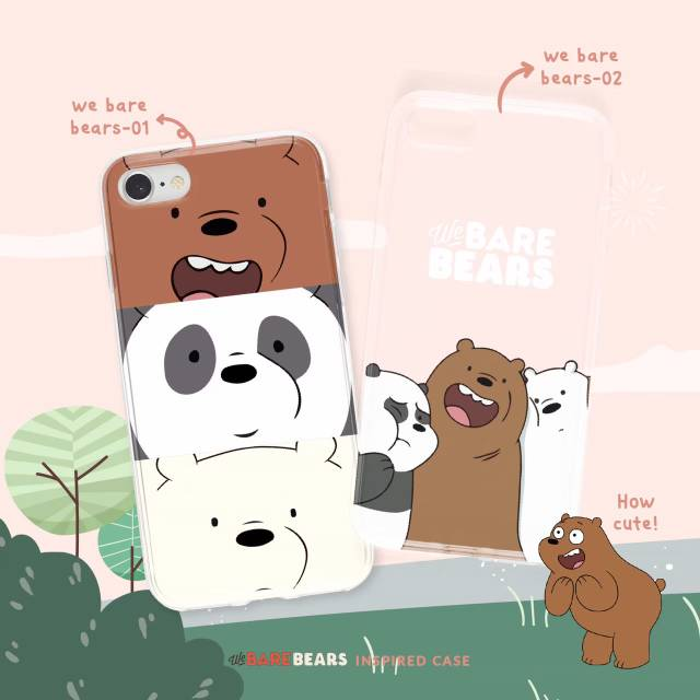 Case Hp Casing Hp We Bare Bears Grizzly Panda Ice Bear Shopee Indonesia