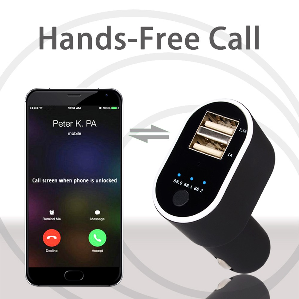 Modulator Transmitter Fm Mp3 Player Charger Usb Bluetooth Sd Mobil Dgn Card Slot Free Aux Kabel Transmiter Shopee Indonesia