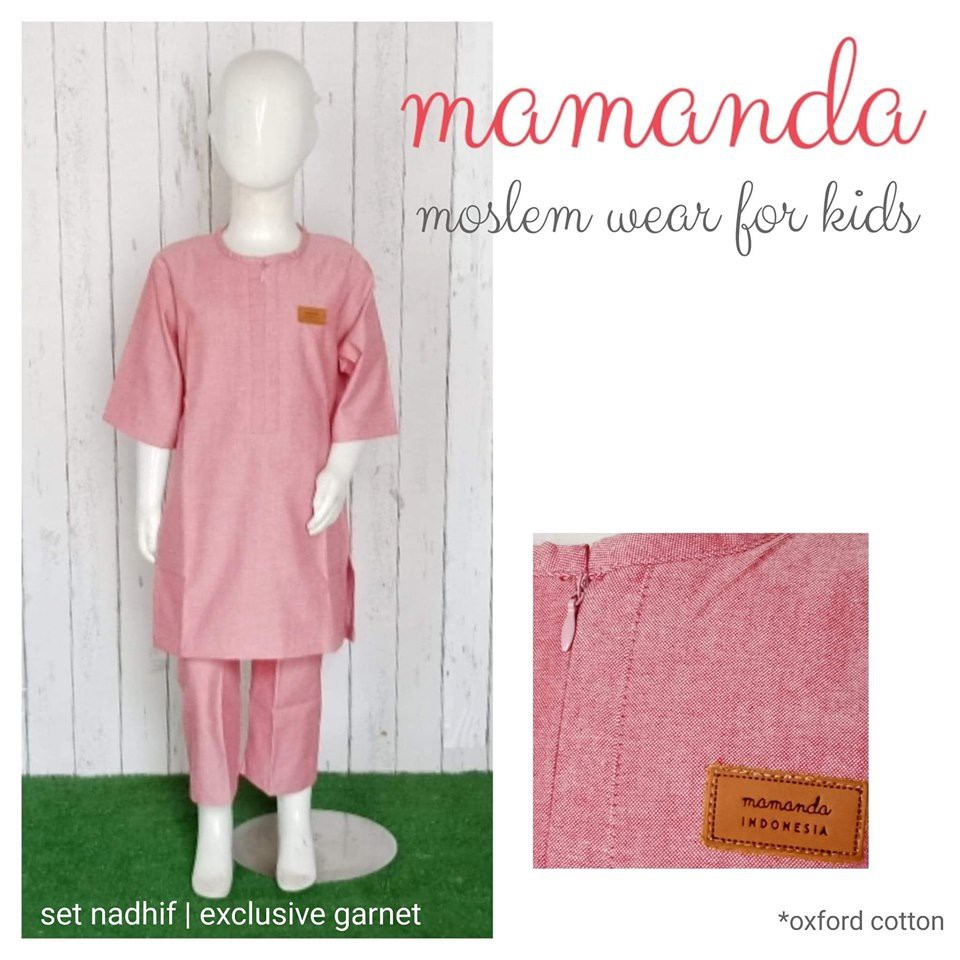 Koko Anak Garnet Set Nadhif Exclusive by Mamanda