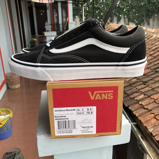 50d07e4967c SEPATU VANS OLDSKOOL BLACK WHITE PREMIUM IFC DT BNIB BARCODE FULL TAG MADE  IN CHINA
