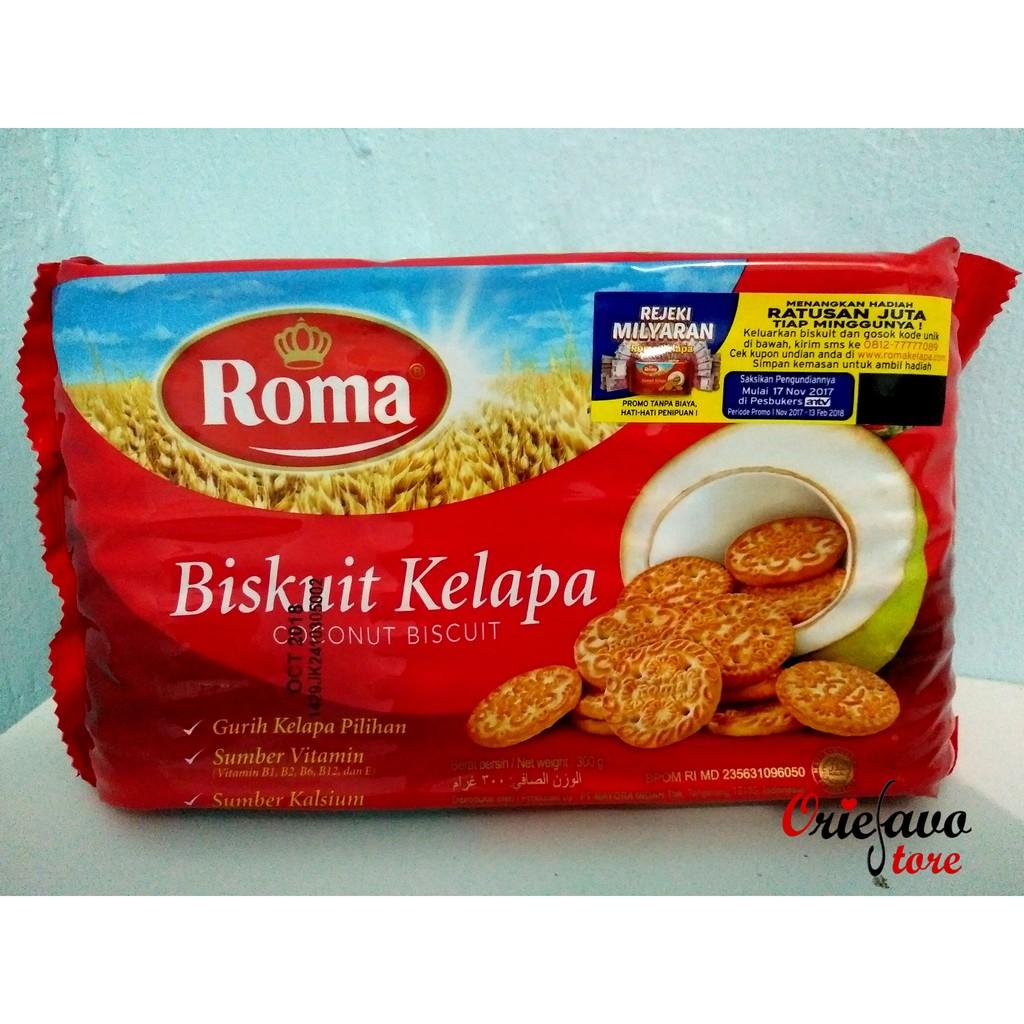 Roma Biskuit Kelapa 1 Pak Isi 7 Pcs Shopee Indonesia