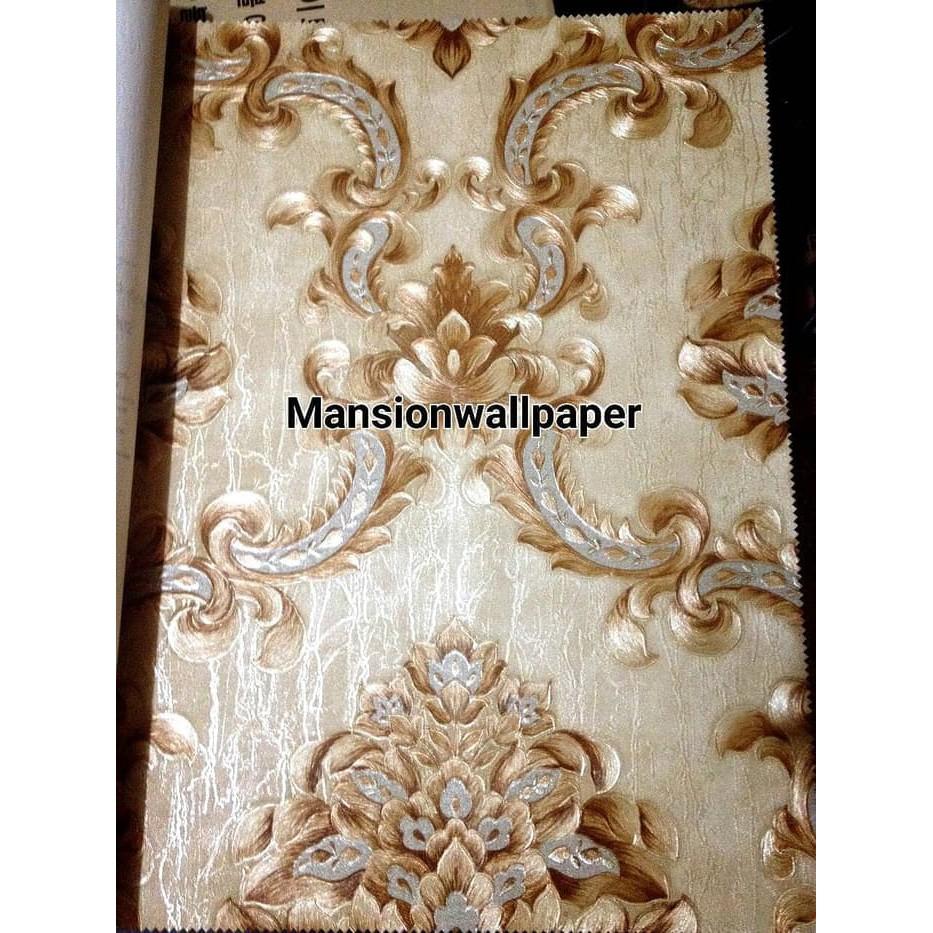 PERCANTIK RUANGAN DEKORASI Wallpaper Dinding Klasik Damask Lux Design Eropa