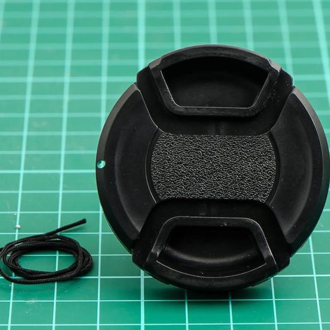 62 mm kamera jepret pada penutup tutup lensa dengan tali untuk Canon Nikon DSLR lensa |