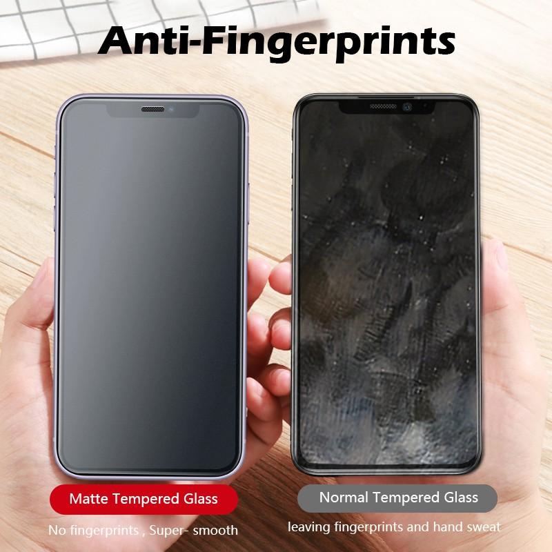 Ag Pelindung Layar Matte Frosted Anti Sidik Jari Untuk Iphone X 6 6s 7 8 Plus Se2020 Xs Max Xr 11 Pro Max Shopee Indonesia
