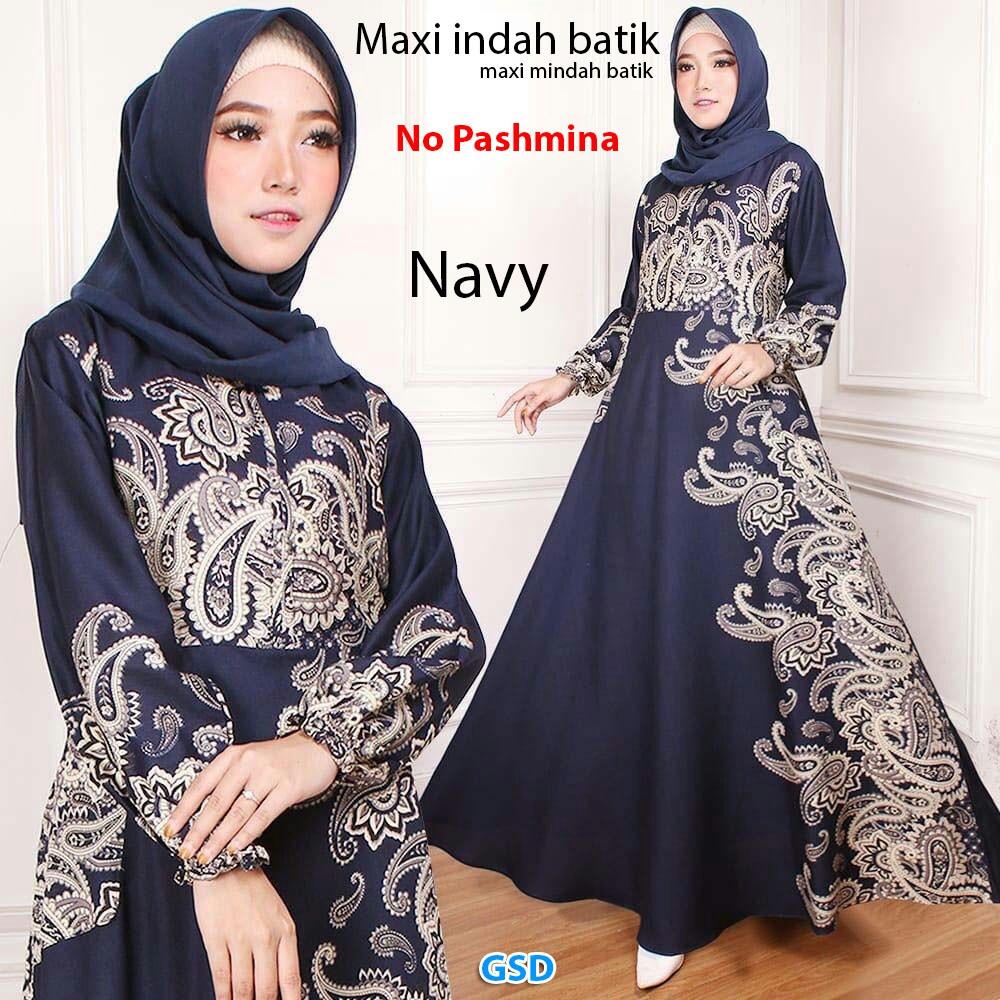 batik+Dress+Muslim+Hijab+Pakaian+Wanita+Dress+Batik -
