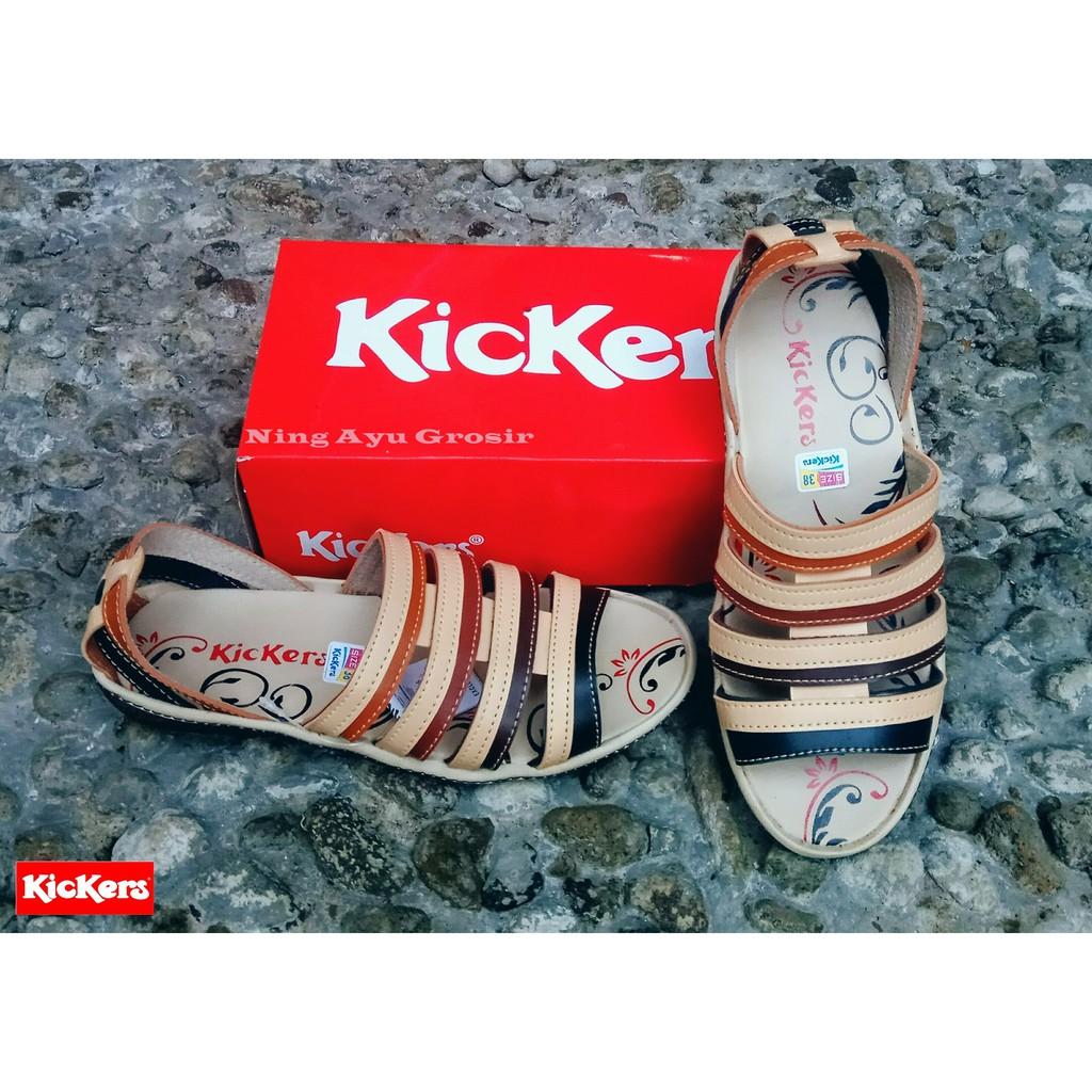 Sandal Kickers Cewe Sepatu Wanita Women Kode 010 017 Shopee Indonesia
