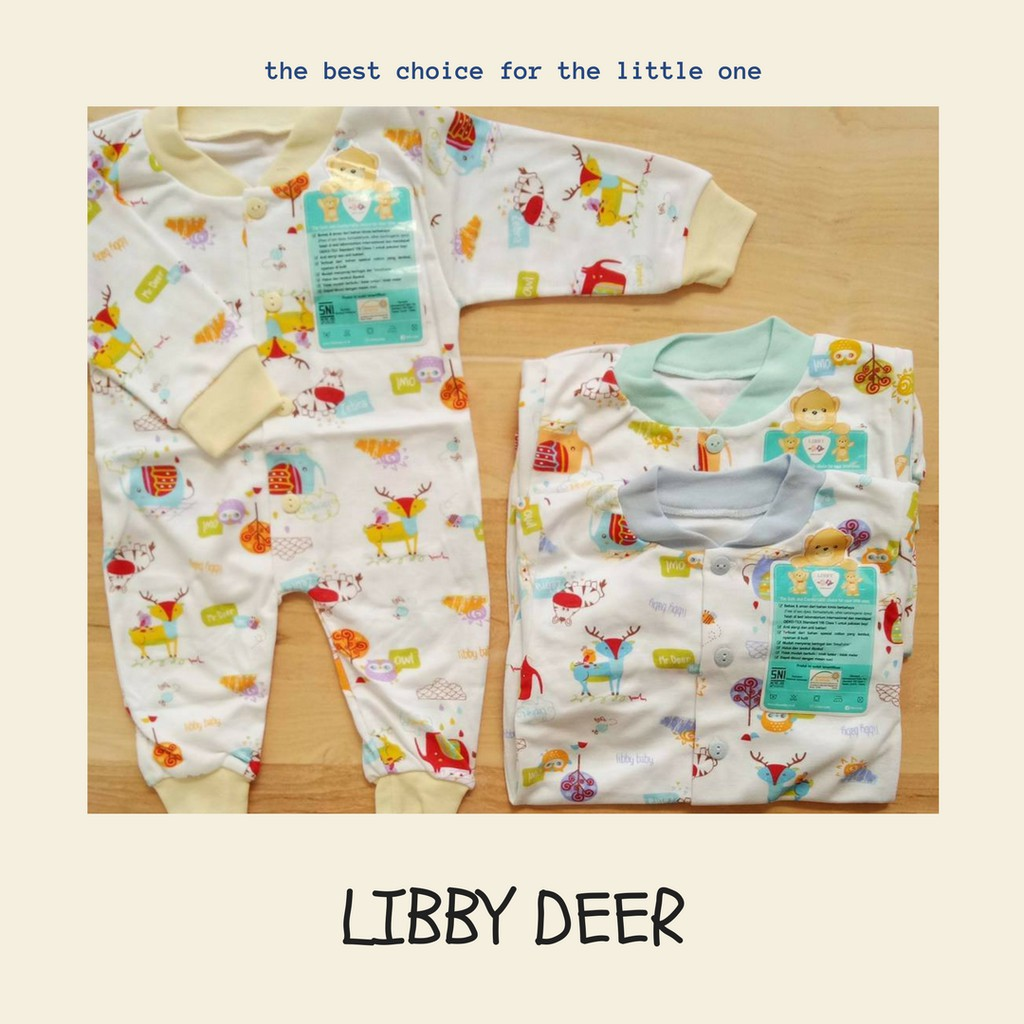 Libby Baju Kodok Segiempat Romper Bayi Baby Motif 0 3m Shopee Buka Kaki Indonesia