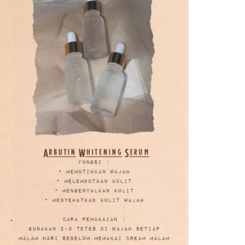 SERUM ARBUTIN / WHITENING ARBUTIN SERUM