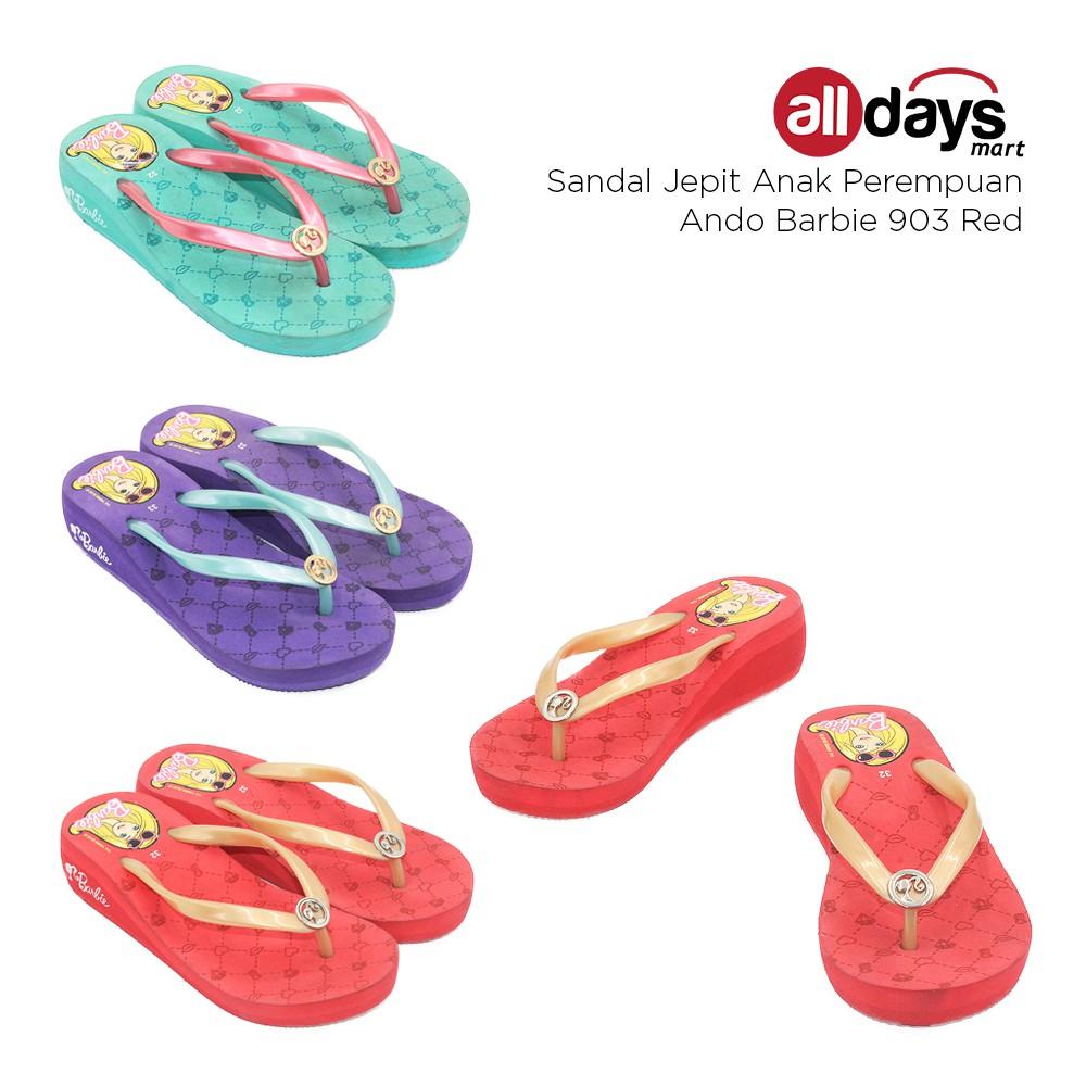 Harga Dan Spesifikasi Sandal Ando Terbaru 2018 Surfer Girl Sepatu Sendal Anak Free Shipping Jabodetabek Jepit Perempuan Barbie 903 Ab Shopee Indonesia