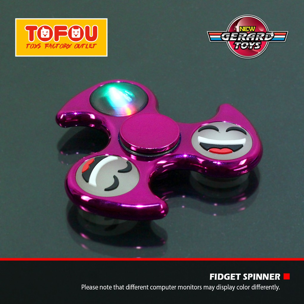 Fidget Spinner Portable Bahan Alloy Warna Silver dengan Kotak Plastik  31ed411b47