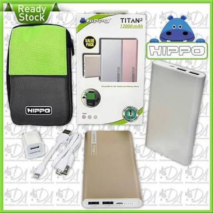 Hippo Powerbank Titan2 12000mah Value Pack