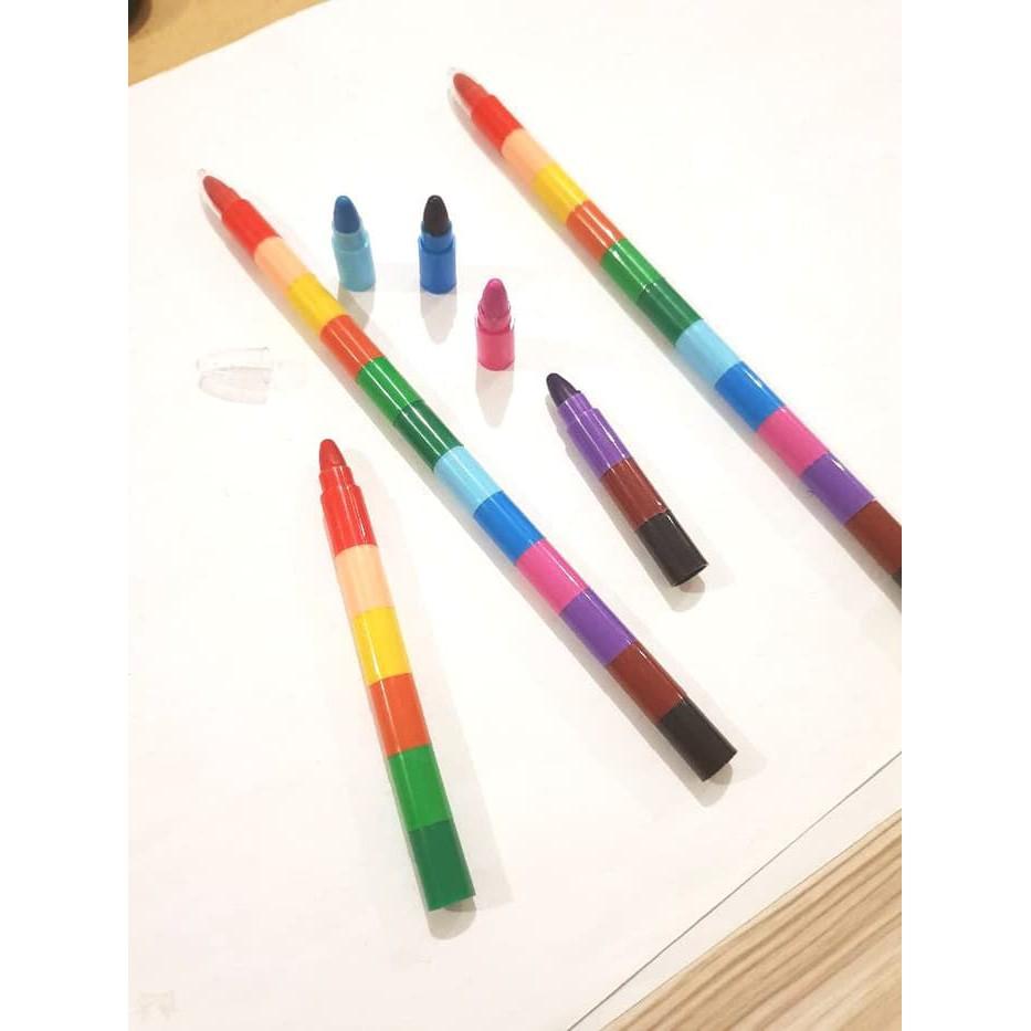 Crayon Tingkat 12 Warna Krayon Pensil Murah Anak Belajar Mewarnai