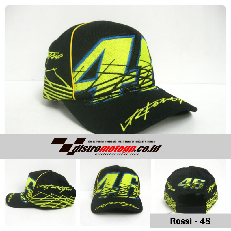 Topi MotoGP The Doctor VR46 Topi Rossi Movistar Topi Valenttino Rossi VR46  Terbaru  34312ea9dd